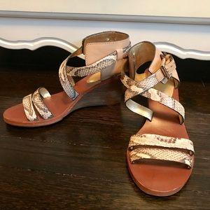 Coach Snakeskin Wedge Sandals
